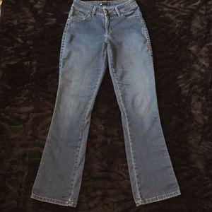 Lee Easy Fit Sz 27 Stretch flares leg blue jeans